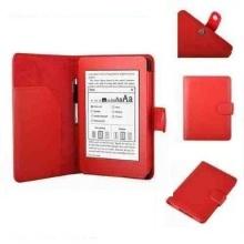 Leder Schutzhülle Hülle Wake Smart Cover Funktion Rot Bild 1