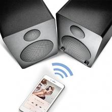 Wavemaster Cube mini Regal-Lautsprecher-System (36 Watt) mit Bluetooth-Streaming Aktiv-Boxen Nutzung für TV/Smartphone/Tablet schwarz (66340) Bild 1