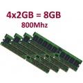 Dual Channel Kit 8GB 240 pin DDR2 800 DIMM PC2 6400 Bild 1