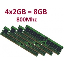 Dual Channel Kit 8GB 240 pin DDR2 800 DIMM PC2 6400 Bild 1