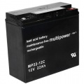 Multipower Blei-Gel Akku MP22-12CZyklenfest 22000 mAh Bild 1