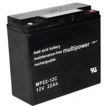 Multipower Blei-Gel Akku MP22-12CZyklenfest 22000 mAh Bild 1