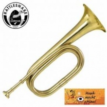 Signalhorn Signal Horn Trompete Messing Bild 1