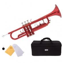 Mendini MTT RL B Flat Trompete rot Bild 1
