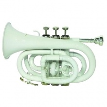 Dimavery 26503730 TP 300 B Pocket Trompete weiß Bild 1