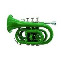 DIMAVERY TP 300 B Pocket Trompete grün Bild 1