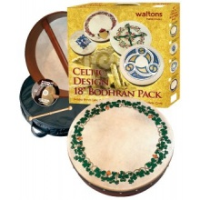 Waltons 8 Inch Irish Bodhran Trinity Bodhran Design Bild 1