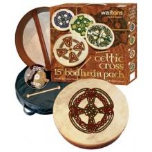 WALTONS PACK 18 KNOTWORK CROSS Bodhran Gift Set Bild 1