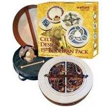 Waltons 15 Inch Irish Bodhran Gift Set Skellig Bodhran Design Bild 1