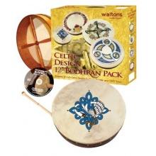 Waltons 12 Inch Irish Bodhran Gift Set Children Of Lir Bodhran Design Bild 1