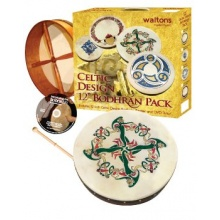 Waltons 12 Inch Irish Bodhran Gift Set Clonmacnoise Bodhran Design Bild 1