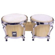 Performance Percussion PP5007 Bongos (19,1 cm (7,5 Zoll), 16,5 cm (6,5 Zoll) Heads) naturholz Bild 1
