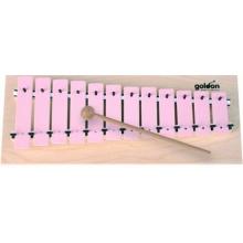Goldon - Metallophon 12 rosa Klangplatten Bild 1