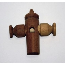 Sambapfeife klassische Form aus Holz Bild 1