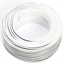 Lautsprecherkabel weiss 2x 0,75mm² Reines Kupfer 50M Ring Bild 1