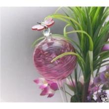 Pflanzensitter Durstkugel Bewässerungskugel rot mit Schmetterlingsverschluss ca.9cm Bild 1
