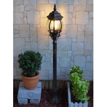 Aluguss Gartenlaterne Wegleuchte in braun-gold Außenlampe LE9006bg Bild 1