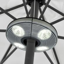 Sonnenschirmlampe mit 4 Strahlern und 16 LEDs Bild 1