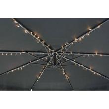 LED 120er Sonnenschirm Lichterkette 8x 1m Sonnenschirmbeleuchtung TOP Bild 1