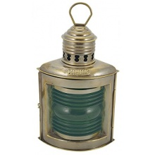 Steuerbordlampe Messing antik, Petroleumbrenner, H: 23cm Bild 1