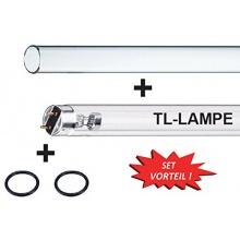 UVC-Set Lampe+Quarzglas 55 Watt Bild 1