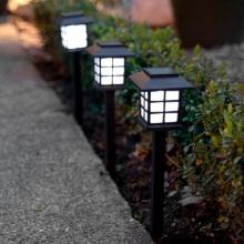 6er Set Solar Laterne mit Erdspieß, Solar Gartenleuchte Bild 1