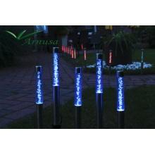 Solarlampe im 5er-Set LED 40cm im Farbwechsel mit Erdspieß Solarleuchte  Bild 1