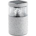 Lunartec Mini-Solar-LED-Gartenleuchte Grey Stone Bild 1