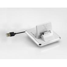 COMPACT-X Weiß Universal Docking Station, Tischladestation, Dock für Handy, Smartphone und Tablet Bild 1