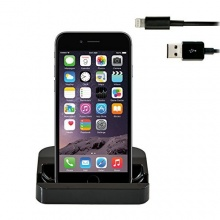 Original iProtect Premium Set mit Dockingstation Ladestation für Apple iPhone 6 und iPhone 6 Plus + USB Datenkabel in schwarz von iprotect Bild 1