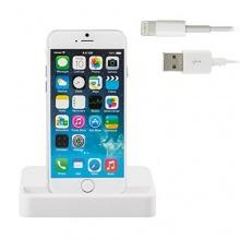 Premium Set mit Dockingstation Ladestation für Apple iPhone 6 und iPhone 6 Plus + USB Datenkabel / Ladekabel weiß von iprotect Bild 1