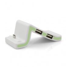 Mini Dockingstation Smart Ständer Halter USB für Smartphone Handy mit 3 USB Ausgängen Grün von System-S Bild 1
