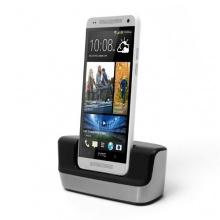 USB Dock HTC One mini Dockingstation / Ladestation + MicroUSB Datenkabel von iprotect Bild 1