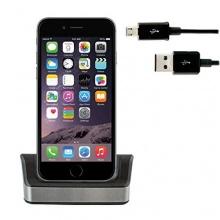Set für Apple iPhone 6 mit Dockingstation Ladestation + Micro USB 2.0 Datenkabel von iprotect Bild 1