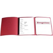 General Office Bewerbungs-Komplettset für 8 Mappen bordeaux/Prägung Bild 1