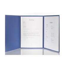 Stratag 5 Stück 3-teilige Bewerbungsmappen blau Bild 1