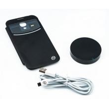 Drahtlos QI Induktionsladegerät schwarz + S4 QI Lade-Empfänger Cover Case für Galaxy S4 S IV i9500 von Qumox Bild 1