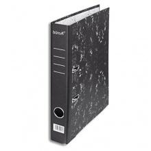 büroMi 10x DIN A4 Ordner 4cm Rücken Wolkenmarmor schwarz Bild 1