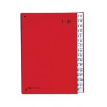 Pagna 24329-01 Pultordner, 1-31, Color-Einband, 32-teilig, rot Bild 1