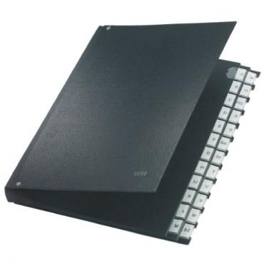 Leitz 59240095 Pultordner A-Z, 24 Fächer, PP, schwarz Bild 1
