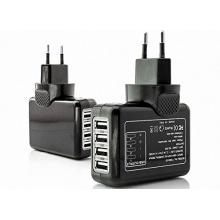 4 Fach Universal 4-Port USB Reise Ladegerät Strom Verteiler Adapter Ladekabel Netzteil für Apple usw. von LONGWELL Bild 1