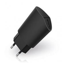 USB Ladegerät / 1 Port USB Reisenetzteil für 1 Geräte 1A/5W (1A - 1000mA) - Schwarz - Handy, Smartphone, von deleyCON Bild 1