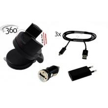 6in1 KFZ Set Handy Netzteil Adapter KFZ Ladestecker 3xDatenkabel Mikro USB für Samsung Galaxy S4/S4mini S3/S3 mini von M&Y Bild 1