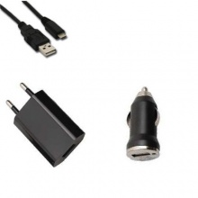 3 in 1 Original Zukimik Netzteil KFZ Auto Ladegerät Micro USB Ladekabel Datenkabel für Samsung , Nokia , HTC und alle anderen Micro USB Anschlüsse von Zukimik Bild 1