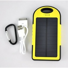 Solar Panel Ladegerät 5000mAh Duale USB Ports tragbares Ladegerät Externe Batterie Power Bank für Iphone Ipad, Samsung von Lychee Bild 1