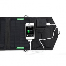 Wasserdichte Outdoor Reise faltbar Dual Ausgabe Solar Panel Ladegerät für iPad iPhone Laptop (schwarz) von LEORX Bild 1
