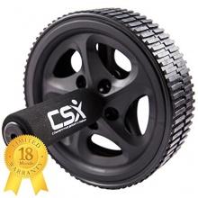 Bauchroller, Rad mit extra dicker Knieauflagematte und Komfort-Schaumgriffen, Schwarz - Dual, Doppel-Pro-Bauchübungsrad von CSX Bild 1