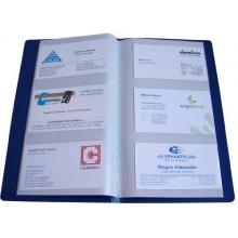 HFP Visitenkartenbuch für 120 Karten blau Bild 1