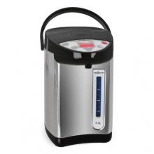 oneConcept Heißwasserspender 5 Liter heißes Wasser Temperatur-Einstellung schwarz-silber Bild 1