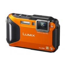 Panasonic DMC-FT5EG9-D Lumix Unterwasserkamera 16,1 Megapixel orange Bild 1